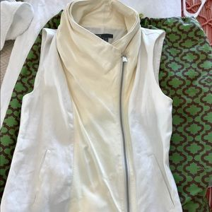 Leather and Linen VEST